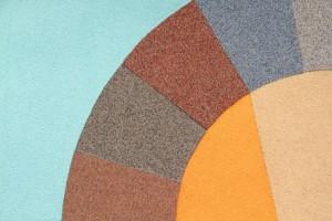 Verschiedene Auenputze und Fassadenfarben