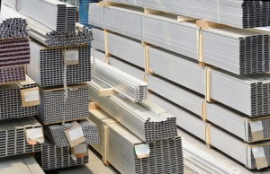Lagerung von Baumaterial